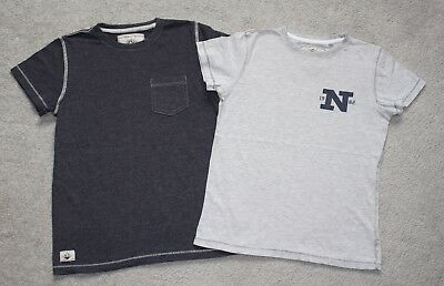 2x Grigio T-shirt Da Next Taglia 10y-mostra Il Titolo Originale Processi Di Tintura Meticolosi