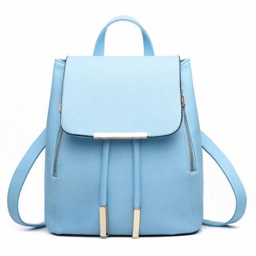 Women/'s PU Leather Satchel Shoulder Backpack School Rucksack Bags Travel Lot