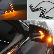 14 SMD LED Arrow Panel Car Rear View Mirror Indicator Turn Signal Light Amber