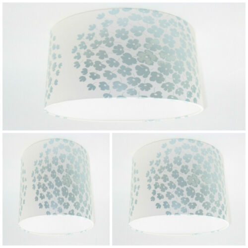 NEW Lampshade Handmade with Laura Ashley Coco Duck Egg Floral Wallpaper Free P/&P