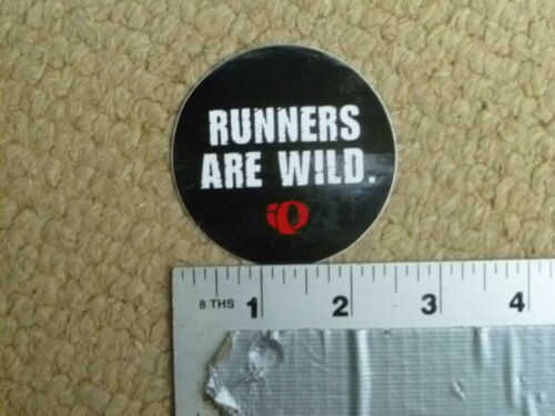 "Pearl Izumi /""Runners are Wild/"" circle Sticker Decal"
