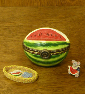 Boyds-Treasure-Box-392142-Walley-039-s-Watermellon-2nd-Ed-NEW-from-Retail-Store