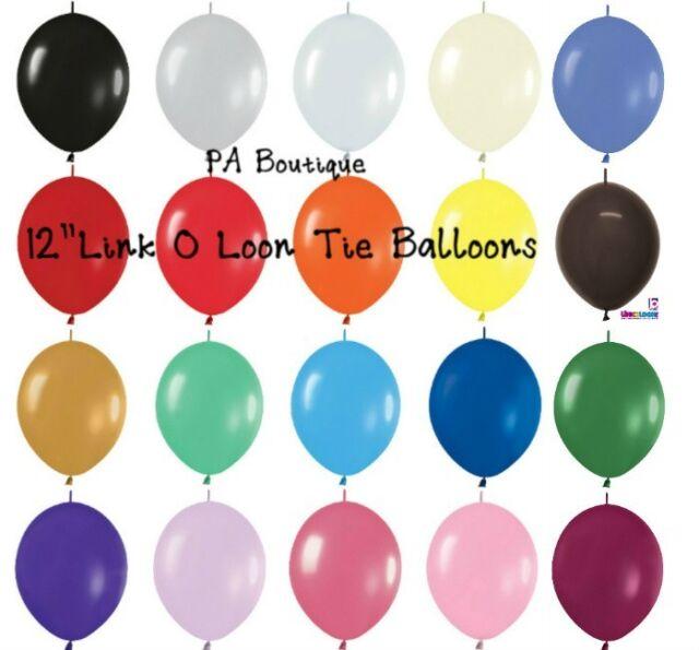 "12 FASHION ASSORTMENT LATEX BALLOONS Helium Grade 11/"""