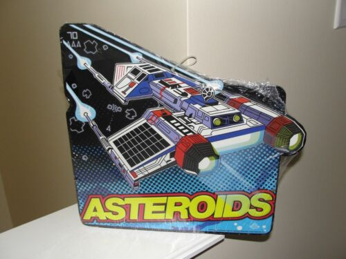 "/""ASTEROIDS GAME /"" METAL SIGN STILL HAS PLASTIC ON IT"