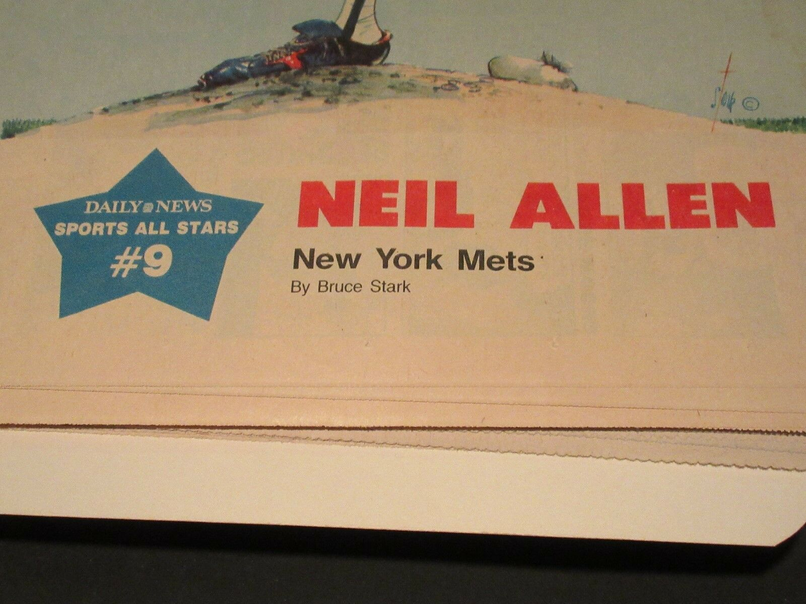 Neil Allen , New York Sunday News Sports All-Stars # 9