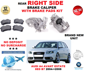 Für Audi A4 Hintere Bremssattel- Rechte Seite + Beläge Avant-Immobilien 8ed B7