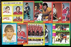 1973-74 TOPPS 73-74 NHL HOCKEY CARD & BORDER COLOR VARIATION 1-198 SEE LIST