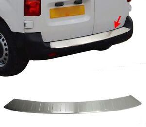 Citroen-Jumpy-2017Up-Chrome-Rear-Bumper-Protector-Scratch-Guard-S-Steel-SHORT