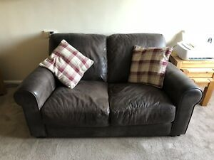 Image Is Loading 1 X Two Seater Leather Brown Houston Sofa