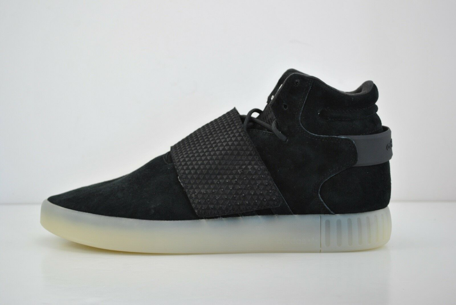 Mens Adidas Tubular Invader Strap Casual Shoes Sneakers Size 11.5 Black BB5037