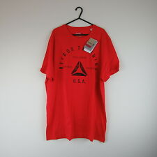 Reebok Training Red Top/T-Shirt Size XL(Clothing/Gym/Running/Cross-Fit/Exercise)