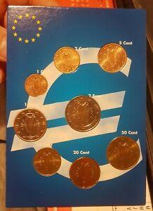 Série Euro 8 pièces 1 cent à 2 Euro, IRLANDE 2002. UNC