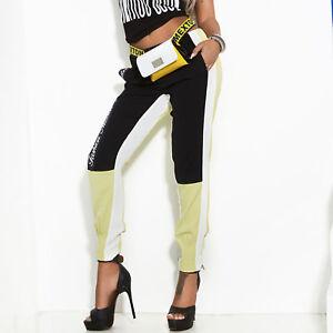 By-Alina-Damenhose-Stoffhose-Boyfriendhose-Roehrenhose-Trackpants-Print-XS-34