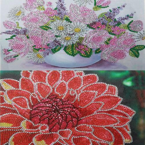 5D DIY Special Shaped Diamond Painting Flower Embroidery Mosaic Kits Home Decor