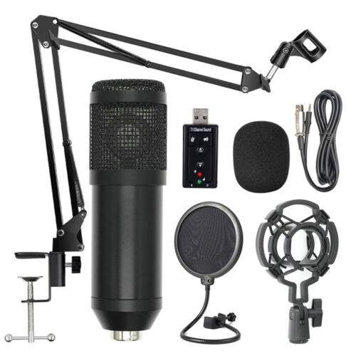 Profi BM800 Studio Großmembran Kondensator Mikrofon Podcast Set Recording F4J3