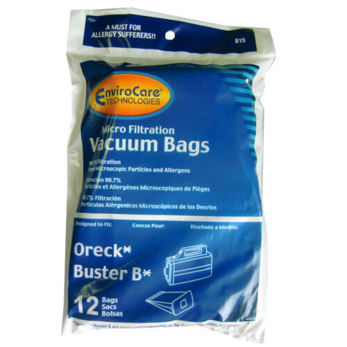 12pk Oreck Buster B Allergy canister vacuum bags Replaces PKBB12DW Part 815