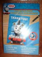 Thomas The Train & Friends Thank You Notes Envelopes Seals Package Of 8