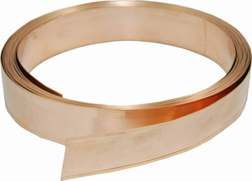 "Copper Draught Excluder Strip /""Proper Copper/"" 25mm Width 6m With All Fixings!"