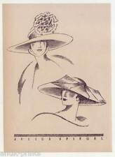 Art Déco-Hüte-Hutmode-Julius Spiegel-Mode - Lithographie aus Styl 1922