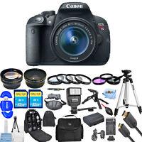 Canon EOS Rebel T5i DSLR Camera with 18-55mm Lens (Black)!! MEGA KIT BRAND NEW!!