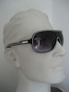 Sonnenbrille getönte Brille Pilotenbrille Sport KULT schwarz-weiß Neu m. Etikett