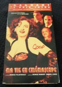 VHS-Movie-Ma-Vie-en-Cinemascope-Version-Francaise-Pascale-Bussieres
