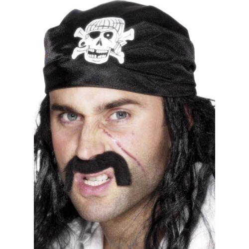 Pirata BANDANA TESCHIO E OSSA INCROCIATE Uomo Donna Pirata Costume Accessorio