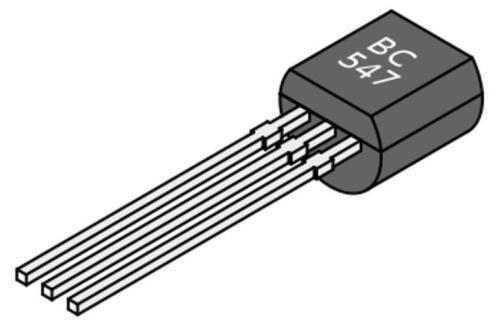TO-92 5x Transistor NPN BC547