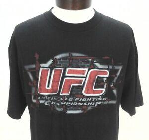 2e0148360c5d UFC Ultimate Fighting Championship MMA Men's Black T-Shirt Large L ...