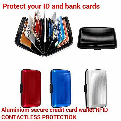 Aluminium RFID Wallet Case /& Contactless Protection Credit Card wallet Holder UK