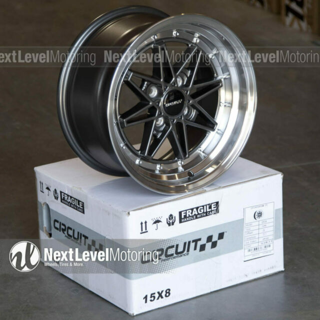 Circuit CP24 15×8 4-100 +25 Gun Metal Wheels Fits Mazda ...