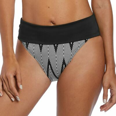 Fantasie Geneva Mid Rise Bikini Brief Bottoms 6595 Black//White New Swimwear