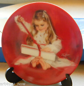 DONALD-ZOLAN-A-Gift-for-Laurie-1987-MINIATURE-PLATE-PEMBERTON-amp-OAKES-VINTAGE