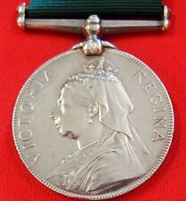 VINTAGE PRE WW1 BRITISH VOLUNTEER FORCE LONG SERVICE GOOD CONDUCT MEDAL BOER WAR