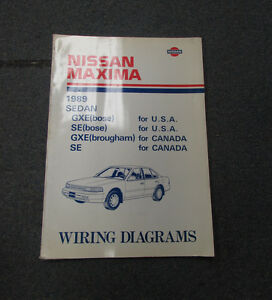 image is loading 1989-nissan-maxima-wiring-electrical-service-diagram-manual