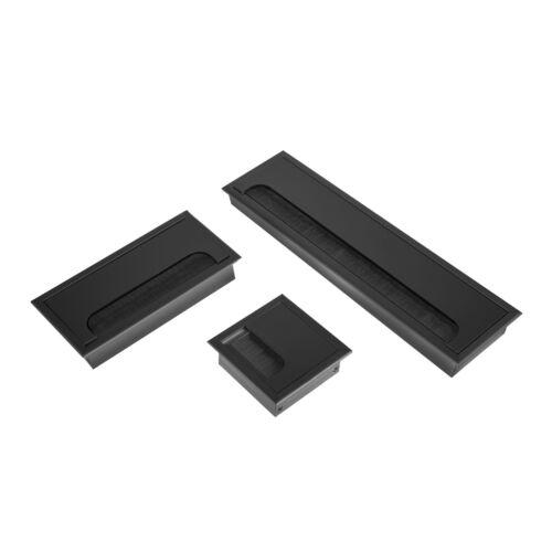 Schreibtisch Kabeldose Kabeldurchführung 80 x 400mm Aluminium Kabeldurchlass f