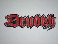 DRUDKH BLACK METAL EMBROIDERED BACK PATCH