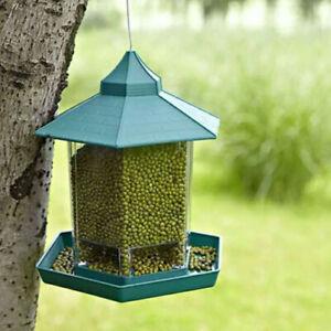 Waterproof-Gazebo-Hanging-Wild-Bird-Feeder-Outdoor-Feeding-Home-Garden