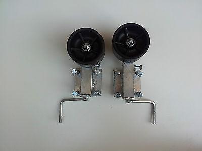 2x Kurbelstütze Bootstrailer Anhänger Sliprollen Doppelrad-Kurbelstütze 59-84cm