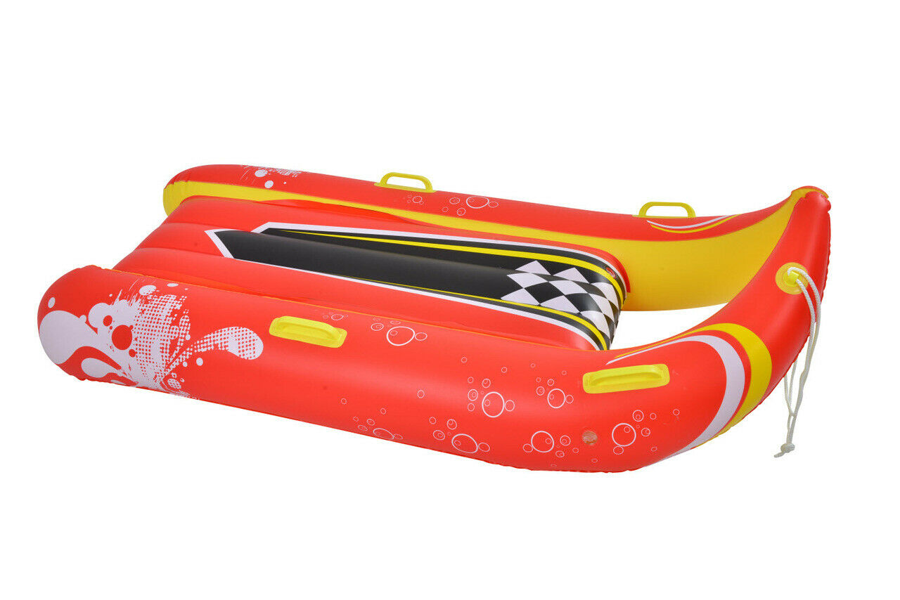 2-PERSON WINTER INFLATABLE SNOW SLED TUBE RIDER  TOWABLE FUN KIDS OUTDOOR TOY