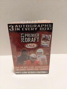 🔥 2021 Sage Premier Draft Blaster Box Football 3 Autographs Per Box New 🔥