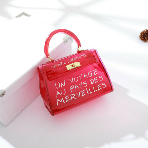 """DE* New Sac femme transparent /"""" un voyage au pays des merveilles /""""Sept couleurs"""