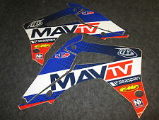 Honda CRF250 2014-2016 CRF450 2013-16 Troy Lee Mav Tv Lucas Oil graphics CR2165