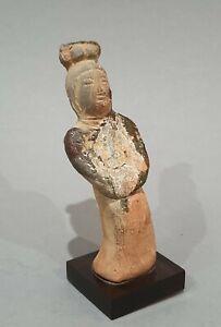 Dame-de-cour-Royaume-du-SIAM-Thailande-1300-1500-apres-JC-Terre-cuite-Asie