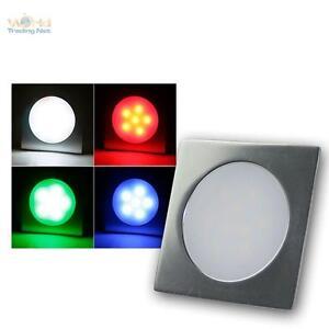 10-X-LED-Projecteur-Encastre-au-sol-RGB-Carre-Lampe-sur-pied