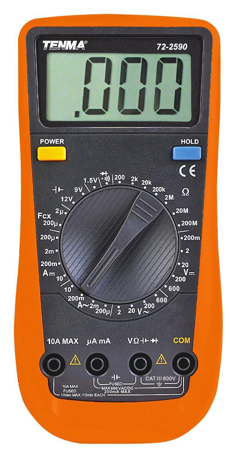 Tenma 3.5 Digit Handheld Manual Ranging Digital Multimeter Ac dc Voltage