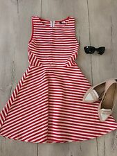 H&m Uk6 Xs Dress White Red Summer Party  Beach Holiday Short Mini £35