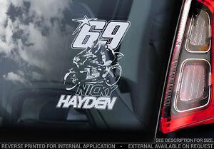 Nicky-Hayden-69-Coche-Pegatina-Ventana-Motocicleta-Superbike-Cartel-V01