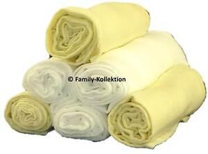 Mullwindel-6-St-bunt-Stoffwindel-Spucktuch-70x80-in-Farbe-3x-Weiss-und-3x-Gelb