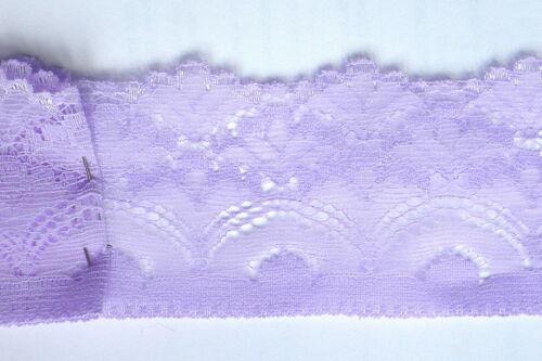 55 mm larghezza 5.5 cm Lunghezza 5 M Luce Viola unico bordo in pizzo ca